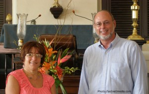 Ellen with Rabbi Moch, USVI