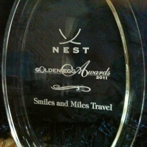NEST Award 2011 Top Travel Agency - Smiles and Miles Travel