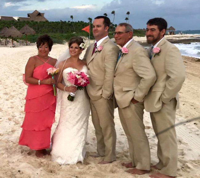 Kim and Pat's wedding at Valentin Imperial Riviera Maya